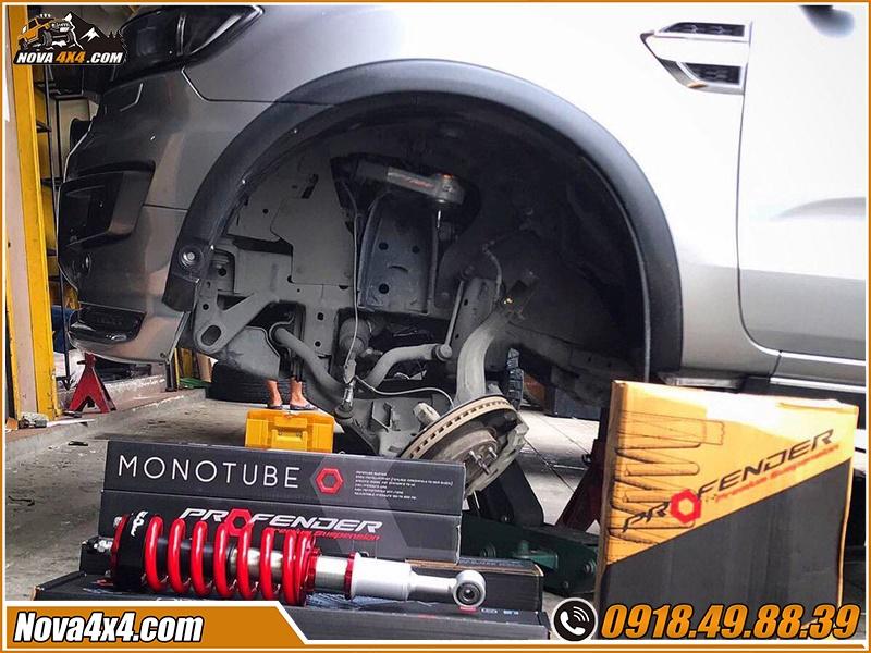 Xem phuộc Profender xe bán tải rất đẹp và chất tại xưởng độ Nova4x4