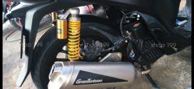 Hình ảnh xe Honda SH màu đen độ pô Granturismo phuộc Ohlins cực đẹp và ngầu