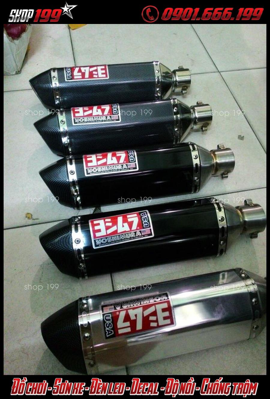 Hình ảnh pô Yoshimura các màu đen, bạc, carbon độ đẹp cho xe Honda SH