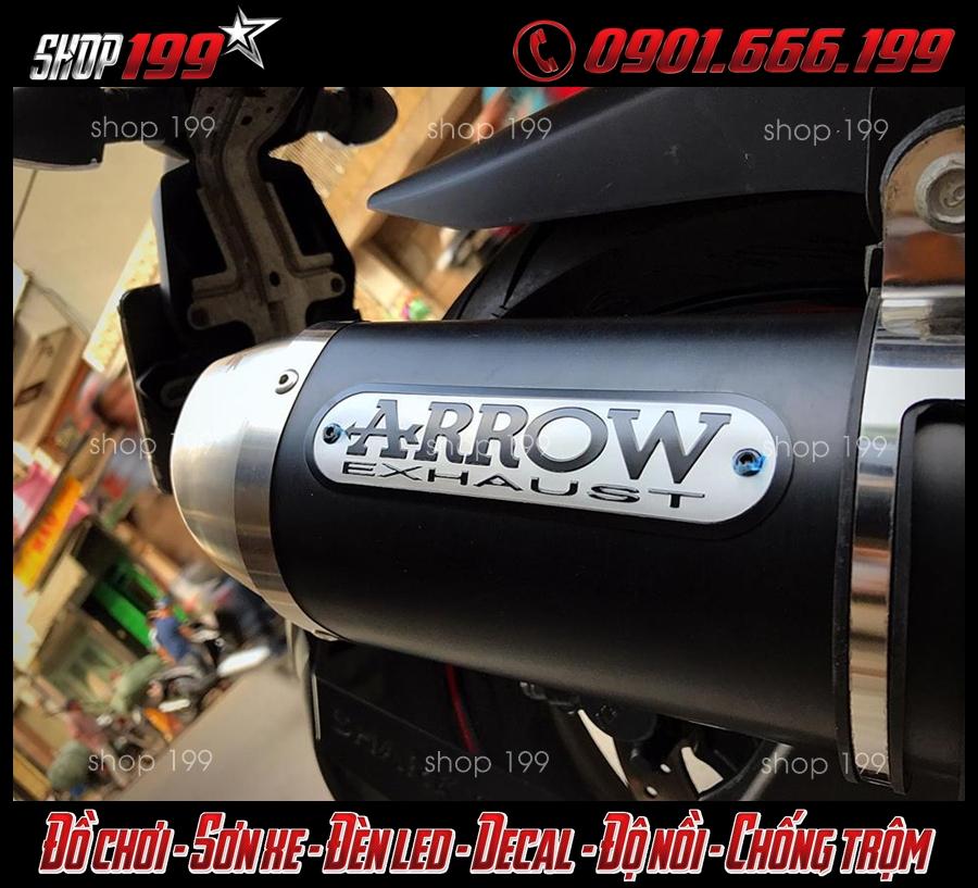 Hình ảnh Pô Arrow cực ngầu với màu đen cực chất độ xe Yamaha TFX 150 tại HCM