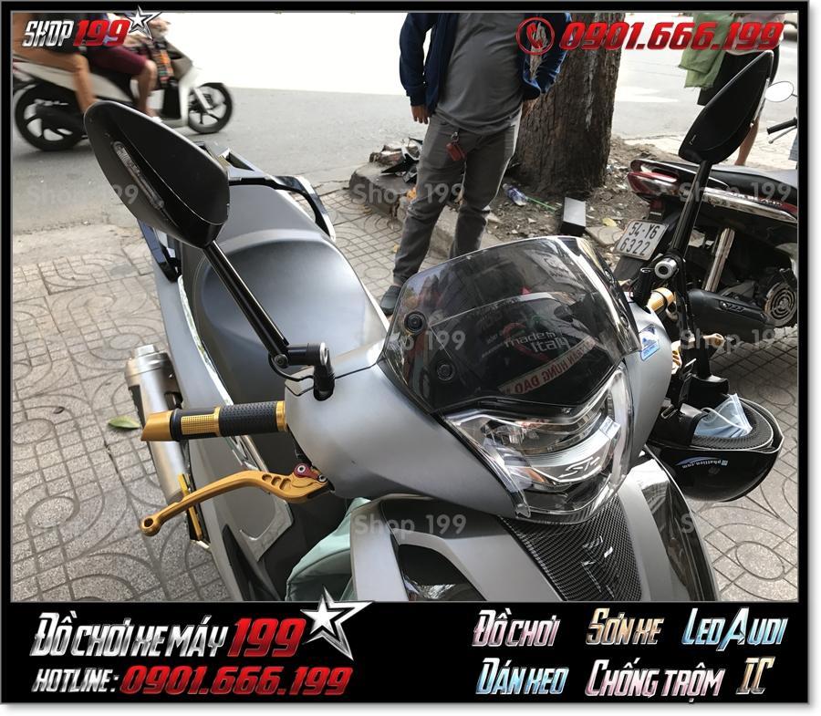 Xem ảnh thay đồ chơi kiếng chiếu hậu kiểng cho xe Honda SH 125 150 2017 2018 2019 giá rẻ tại SG