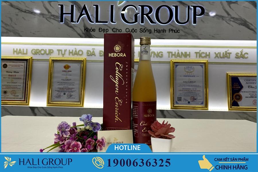 Cách dùng Nước Uống Hebora Collagen Enrich Nhật Bản